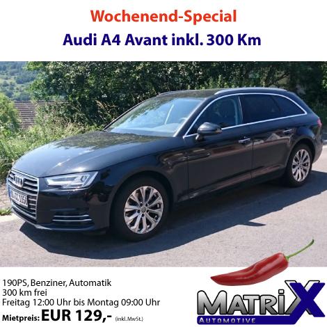 09.06.2016 Audi A4 Avant - Wochenend-Miete
