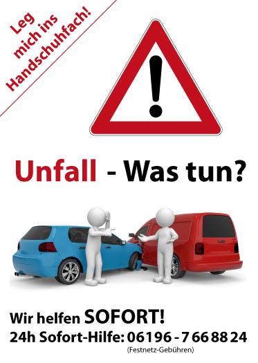 Flyer - Unfall - Was tun?